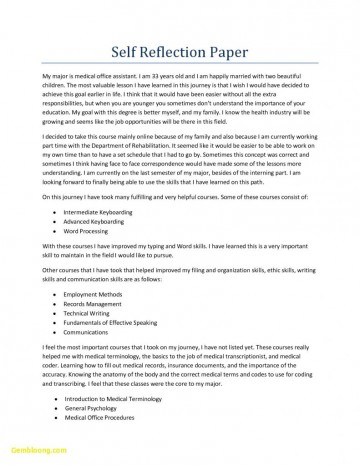 007 Reflective Essay Format Unique Informals Apa For Reflection Of 791x1024 Phenomenal Self Assessment Example Paper 360