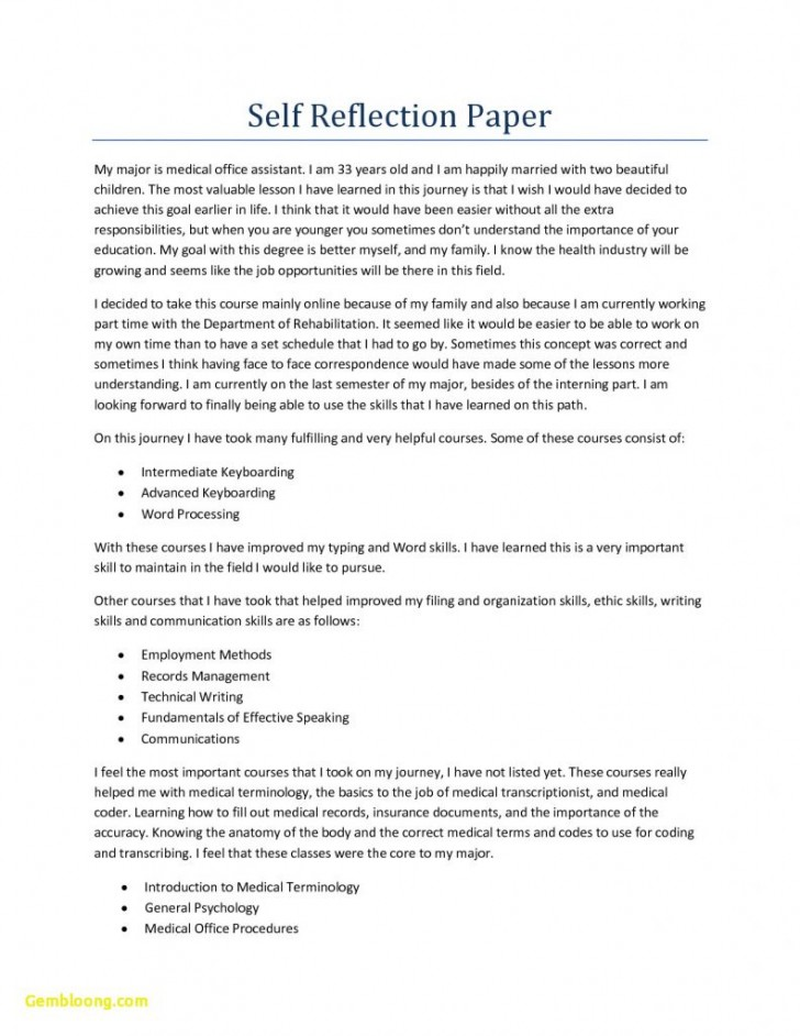007 Reflective Essay Format Unique Informals Apa For Reflection Of 791x1024 Phenomenal Self Assessment Example Paper 728