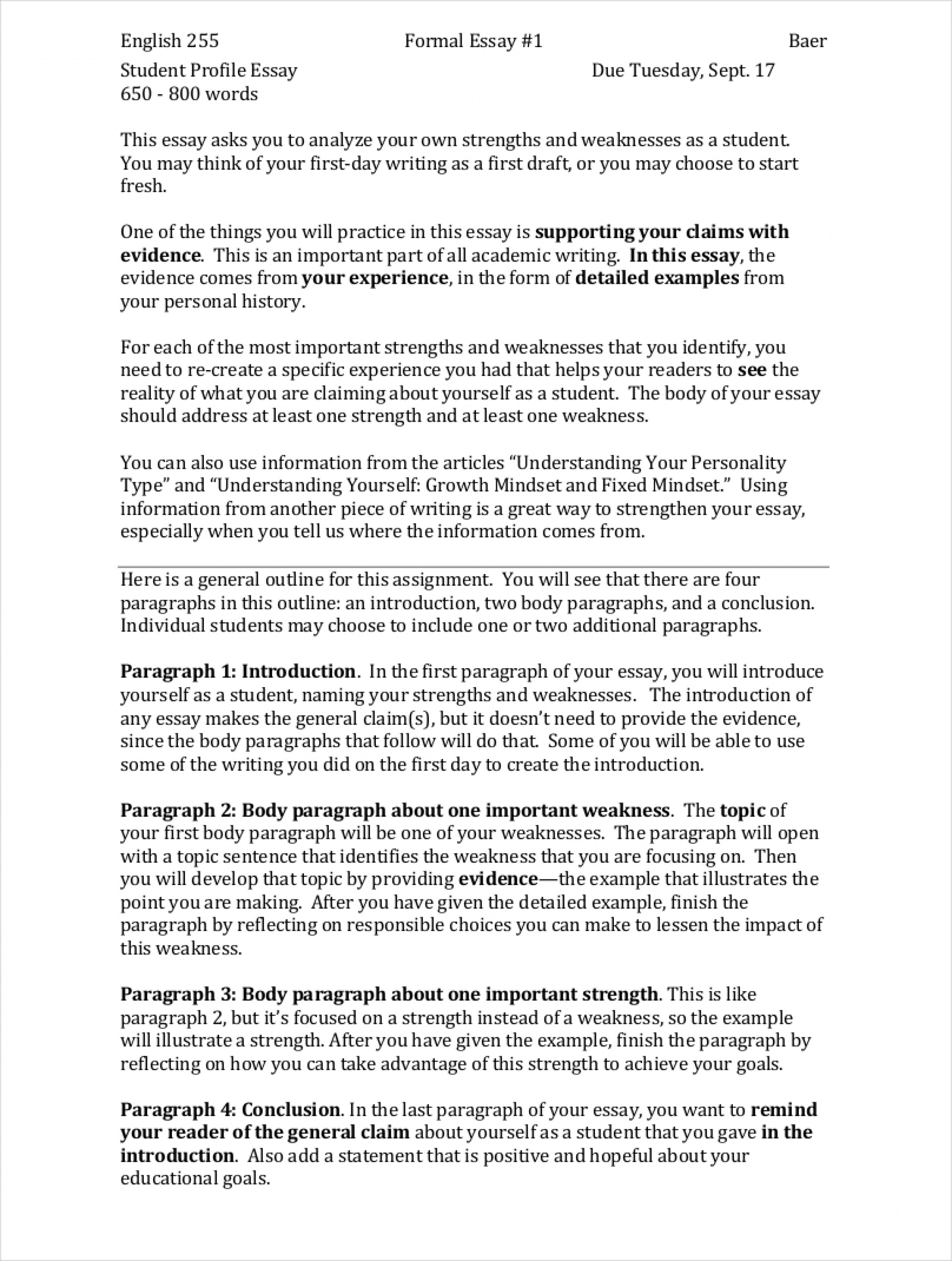 007 Samples Of Formal Essays Free Pdf Format Download My Strengths And Weaknesses In Writing Essay Student Profile Sa Impressive Examples Mba For Introduction 1920