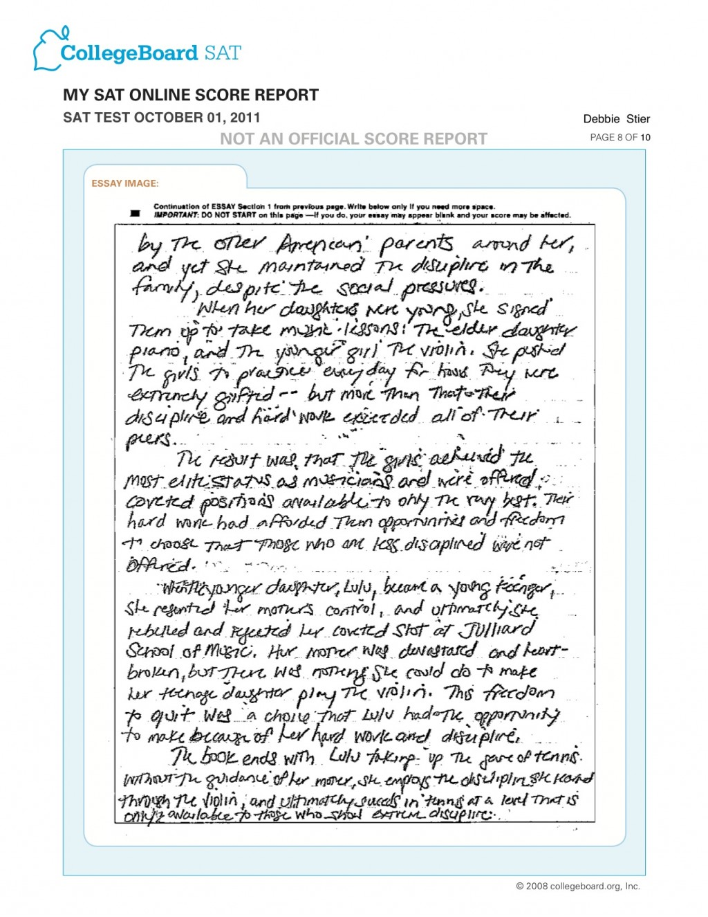 007 Sat Essay Sample Oct Page Wondrous Pdf Large