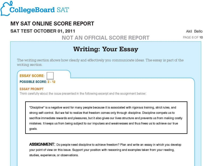 007 Sat Essay Test Writing Promptss Score Range Time Limit Format Sample Percentiles Tips Stunning 2018