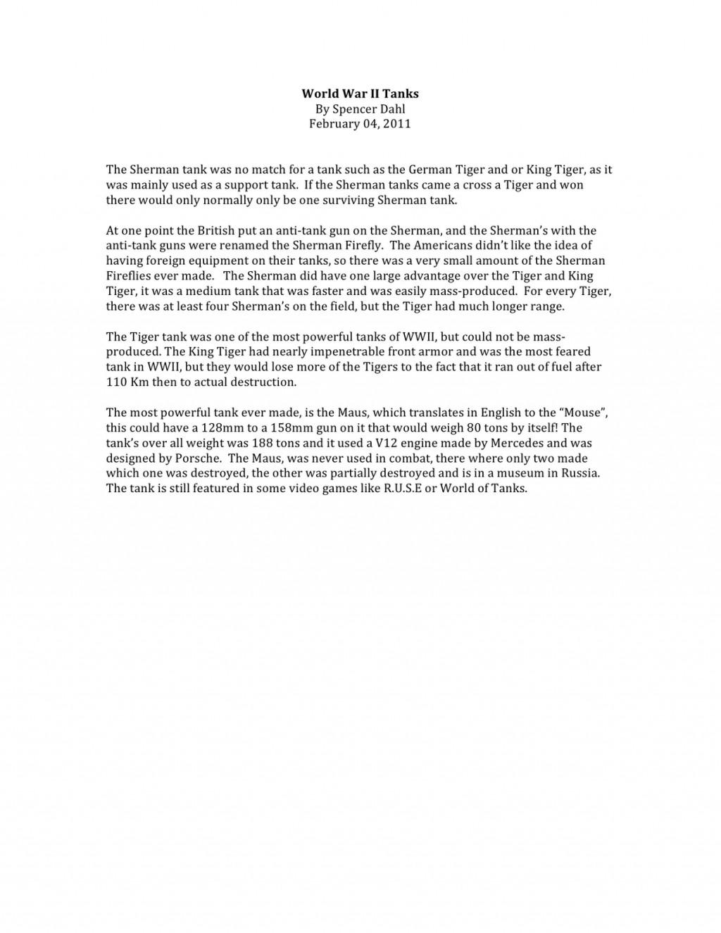 007 Short Essay World2bwar2bii2btanks Shocking Answer Rubric Apush About Slavery In America Questions Internal Medicine Large