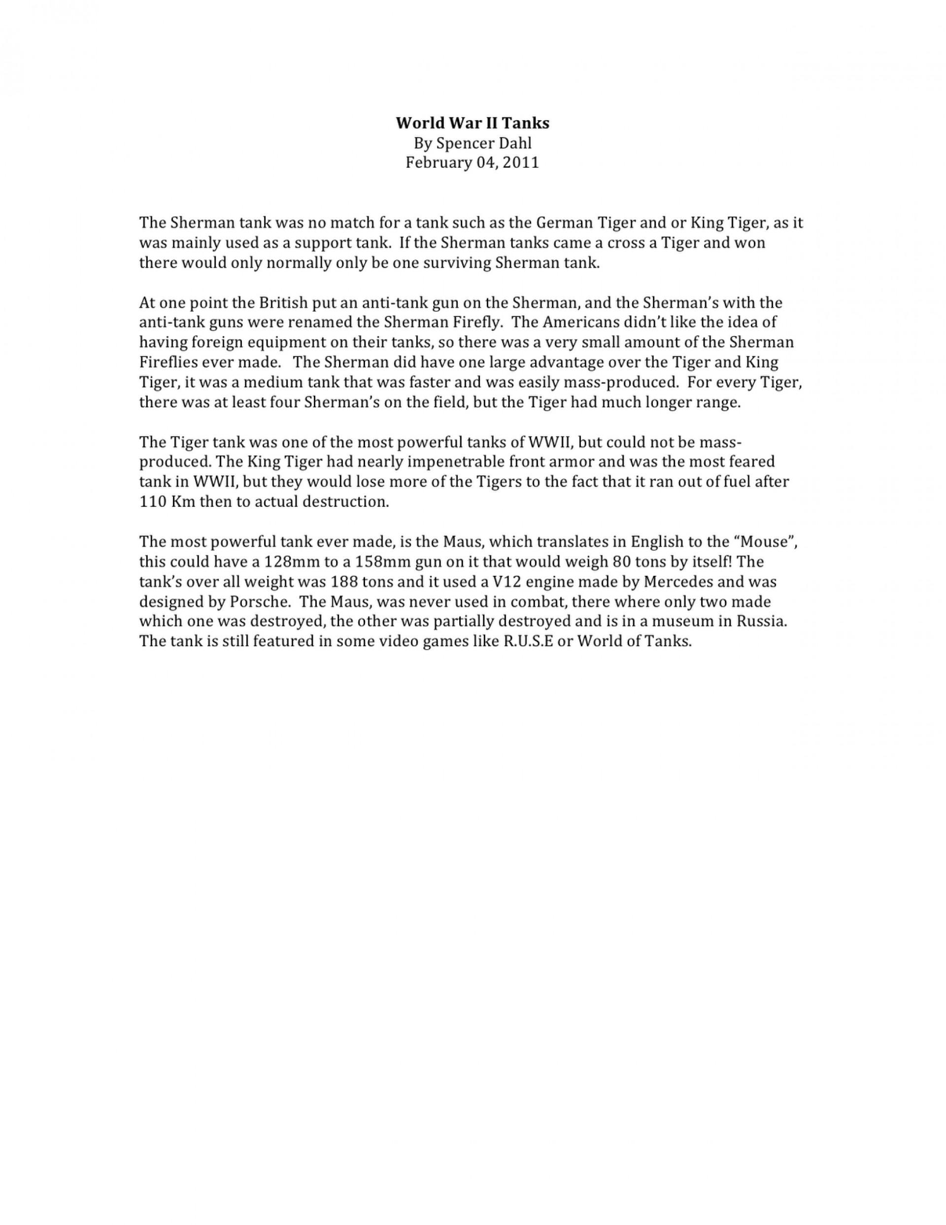 007 Short Essay World2bwar2bii2btanks Shocking Answer Rubric Apush About Slavery In America Questions Internal Medicine 1920