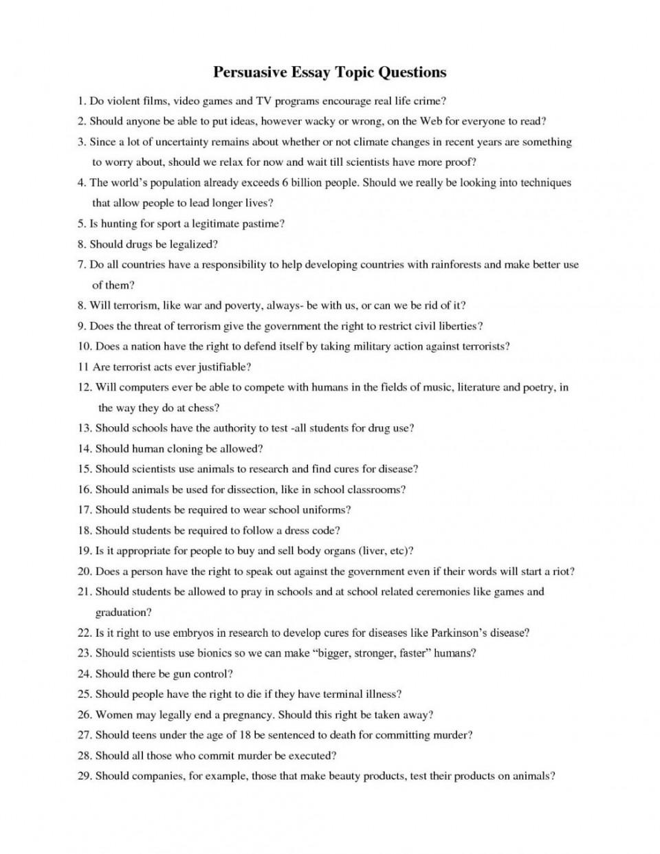 persuasive essay topics about animals