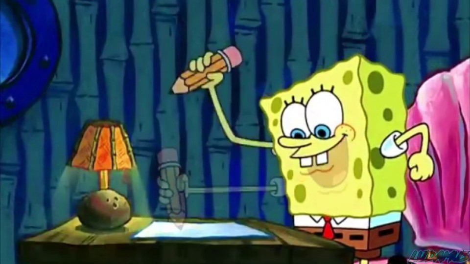 007 Spongebob Essay Writing His Term Paper Help Bkhomeworkqvci Dedup Info Gif Maxresde Font Rap For Hours The Meme Surprising Pencil 960