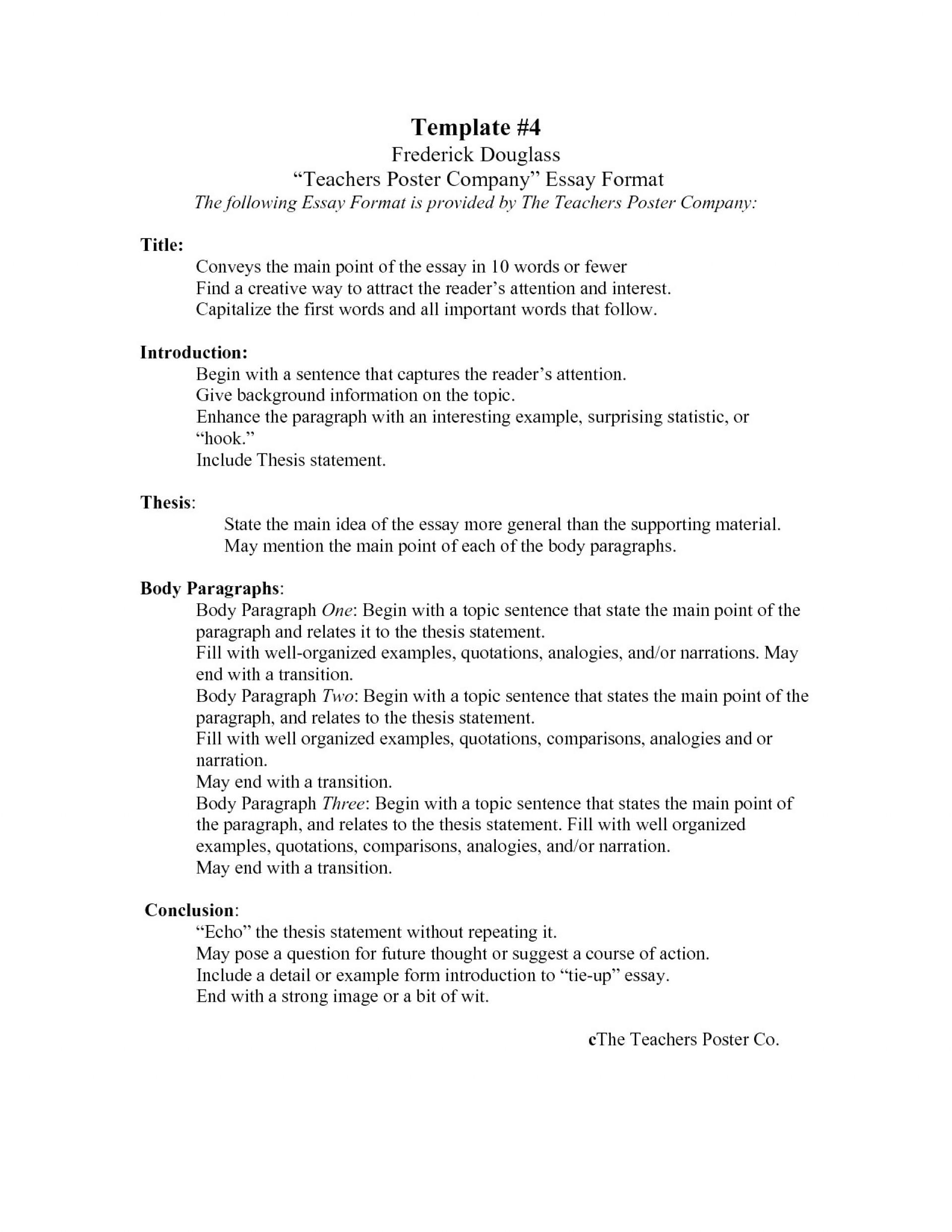 007 Standard Essay Format Outline Impressive Apa Style Font Size 1920