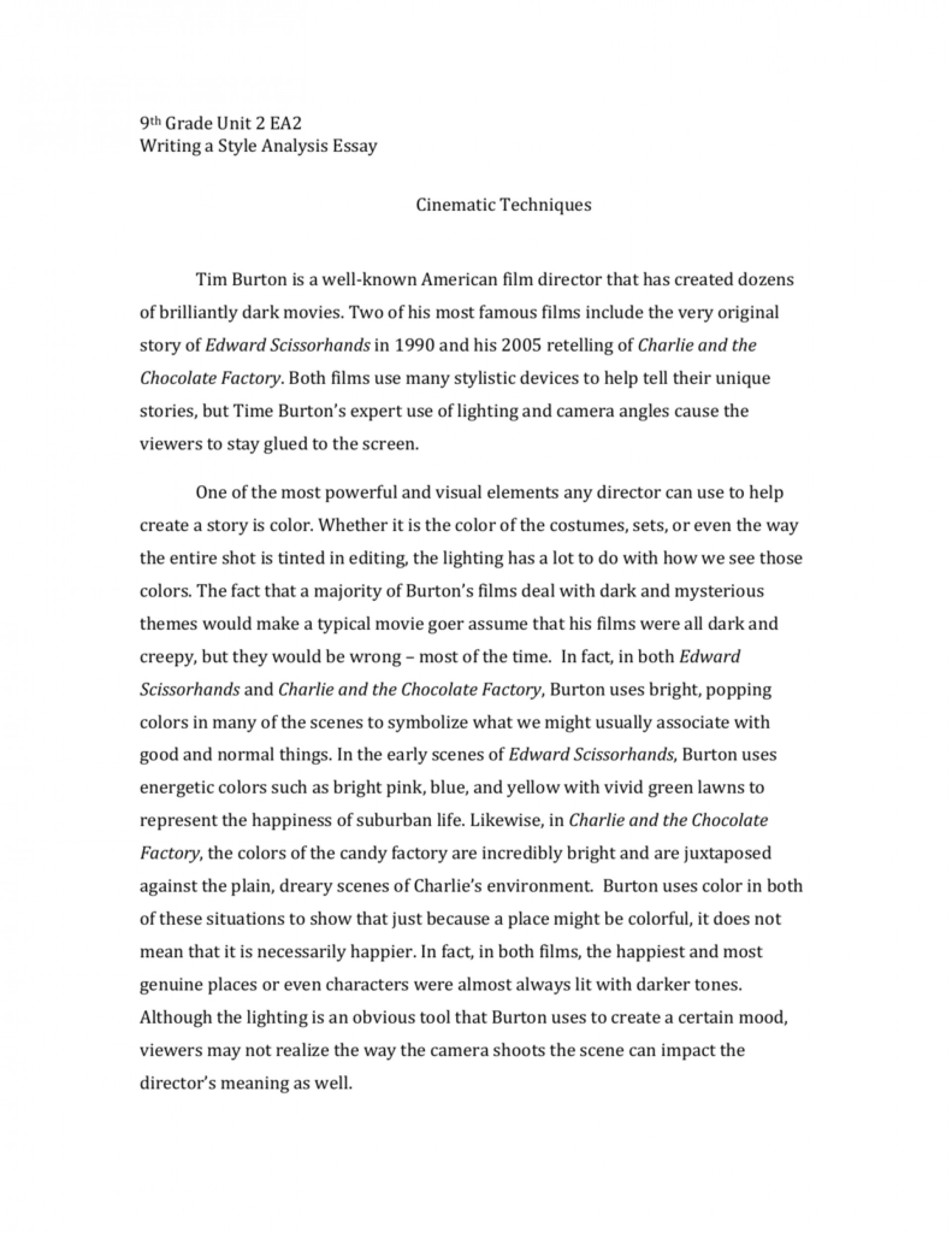 007 Style Analysis Sample 9th Grade Staar Expository Essay Examples 007181423 1 Argumentative Persuasive Narrative Example Samples Informative English Amazing Definition Writing And Extended 1920