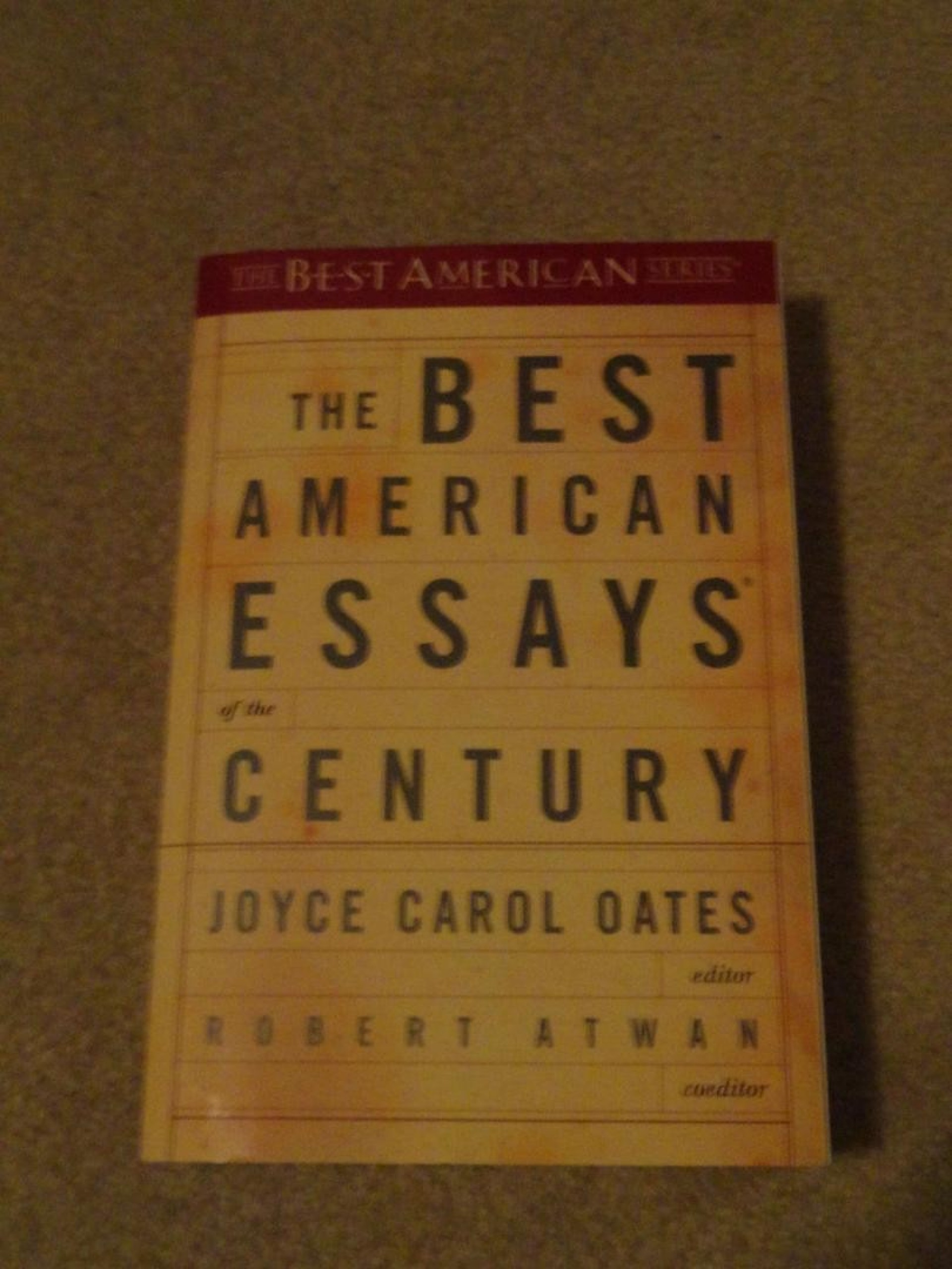 007 The Best American Essays Of Century Essay Example 1 997b8cd7358e6230fa01ed6b061067a8 Imposing Contents Summaries 1920