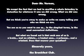 007 The Breakfast Club Essay Example From Jacksonbig On Movie Brians Final Questions Breathtaking Introduction Analysis Stereotypes
