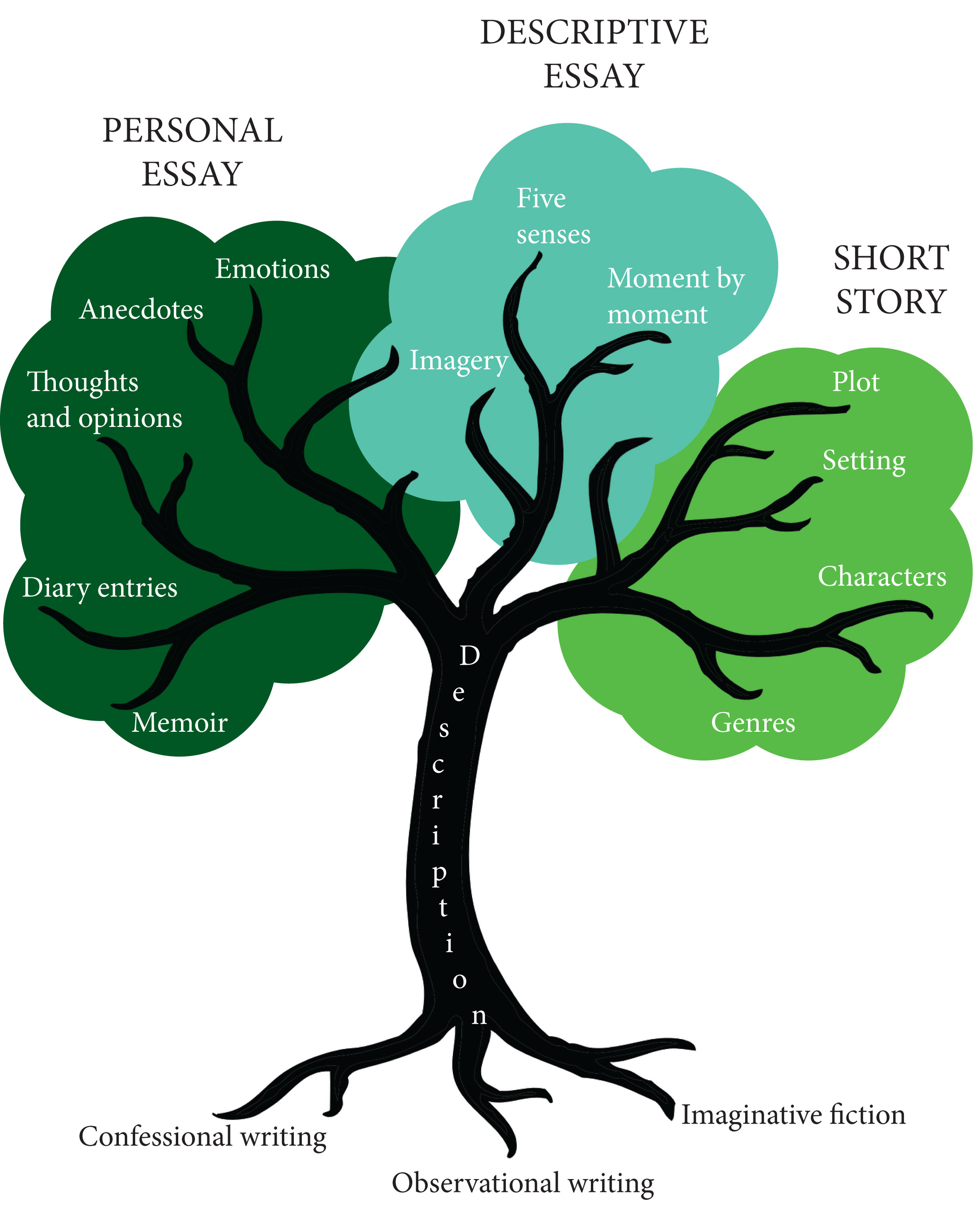 007 Tree Diagram Elements Of Descriptive Essay Exceptional Key A And Features Full
