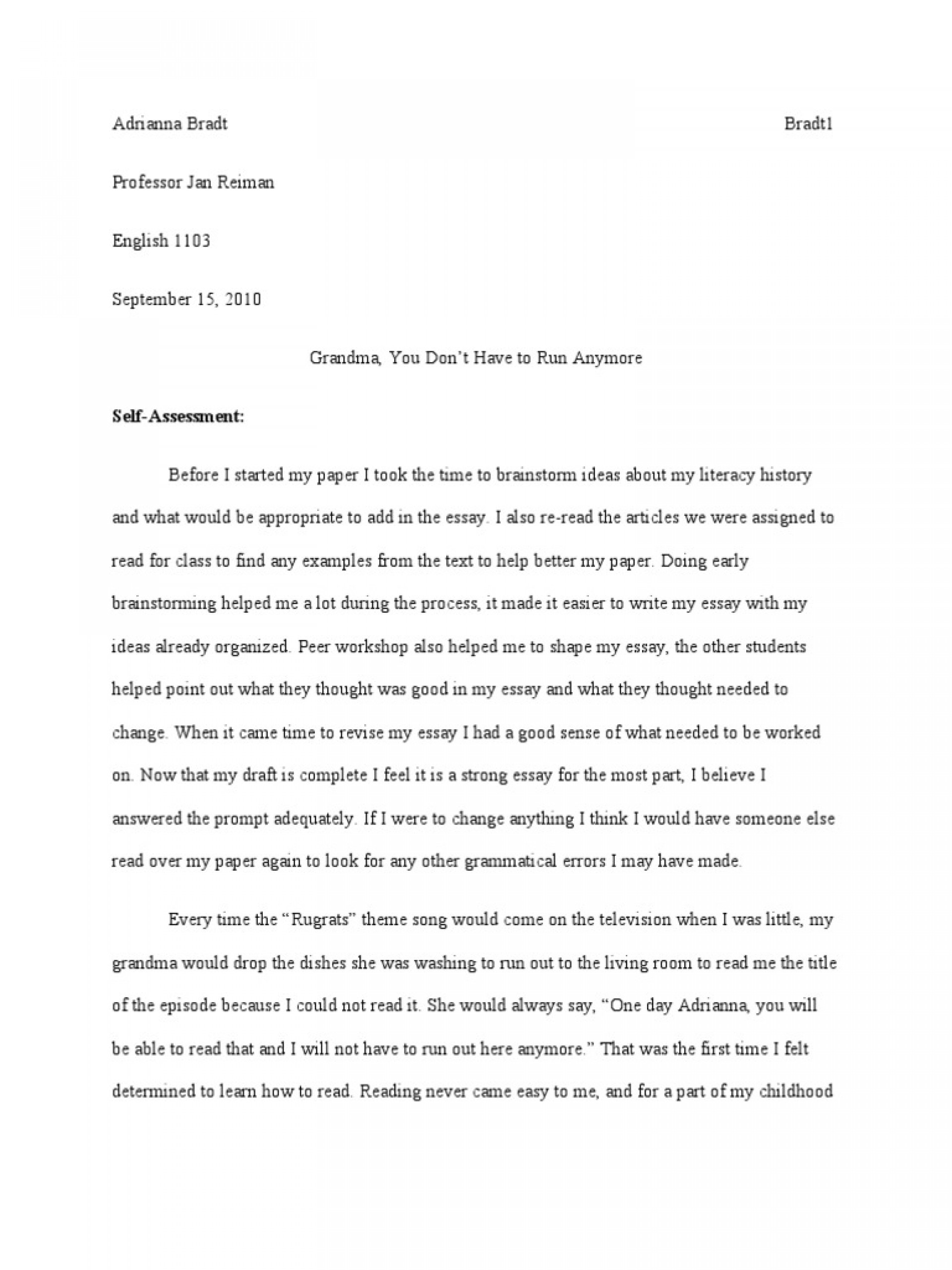 007 Trends Of Literacy Narrative Essays Essay Phenomenal Example Personal Examples Sample Digital 1920
