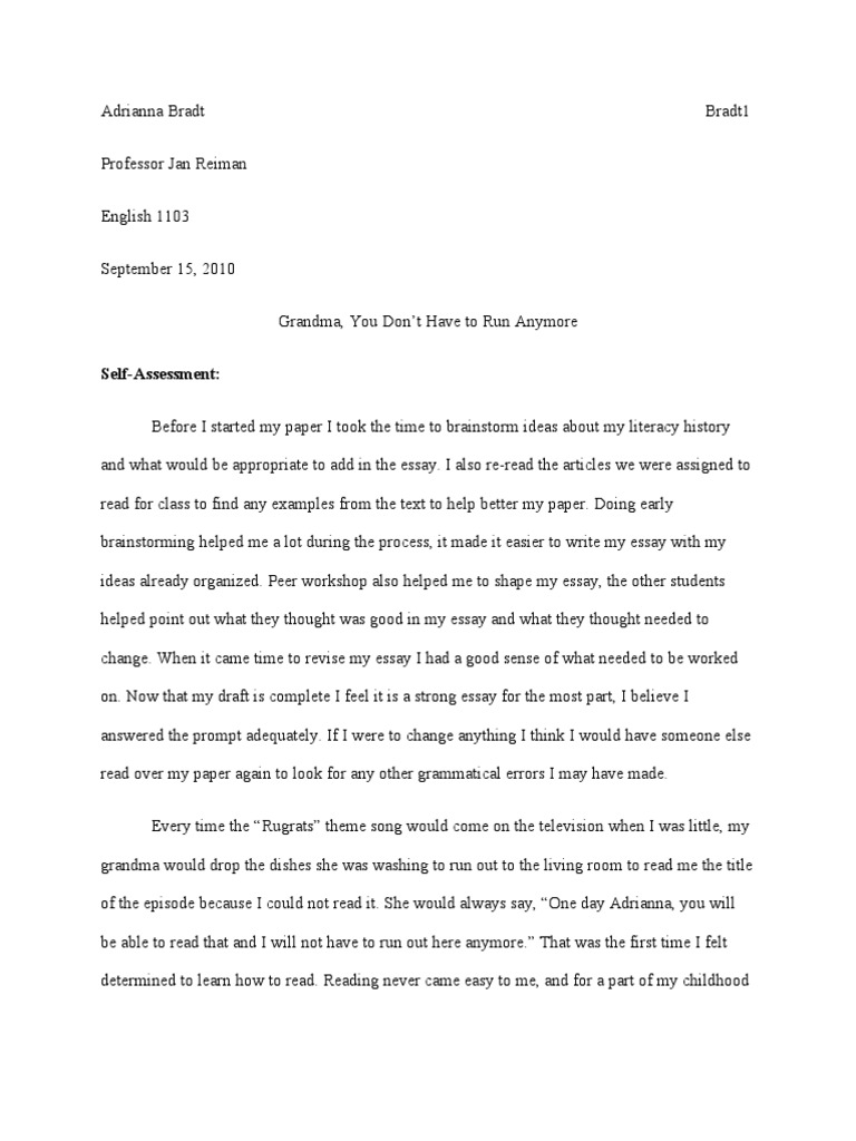 007 Trends Of Literacy Narrative Essays Essay Phenomenal Example Personal Examples Sample Digital Full