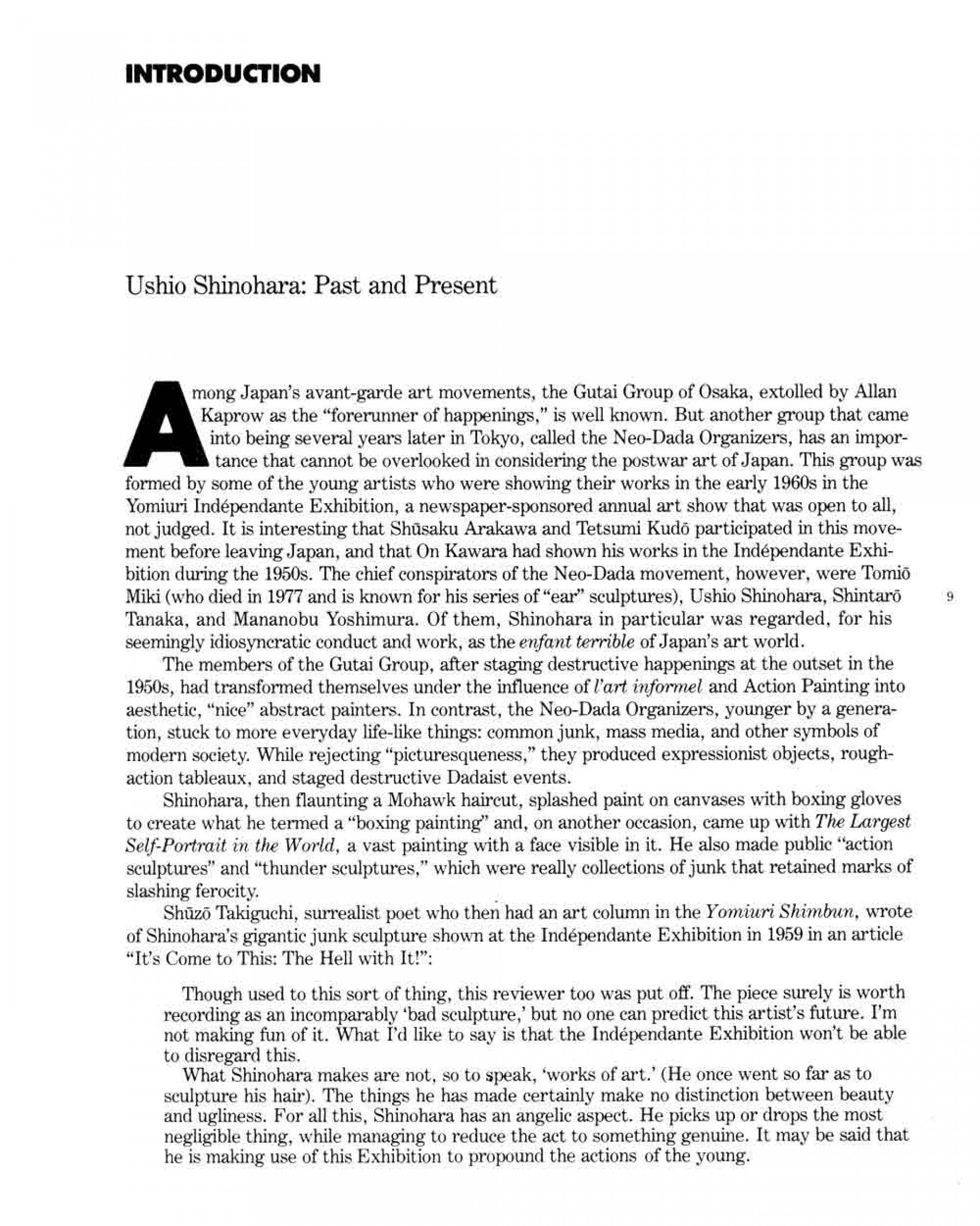 007 Ushio Shinohara Past And Present Essay Pg 1 Example How To Cite Fearsome Essays From A Book Mla An Within Apa Research Paper 1920