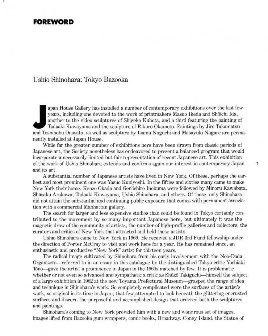 007 Ushio Shinohara Tokyo Bazooka Essay Pg 1 Quoting In An Frightening Examples Of Dialogue Shakespeare A Play Mla 868