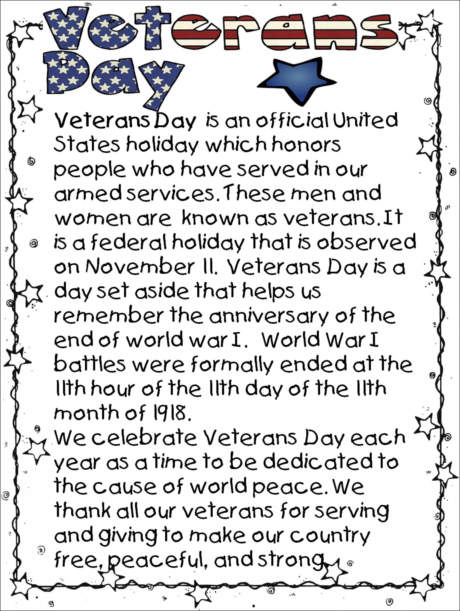 007 Veterans Day Essay Example Best Contest Ideas Titles 1920