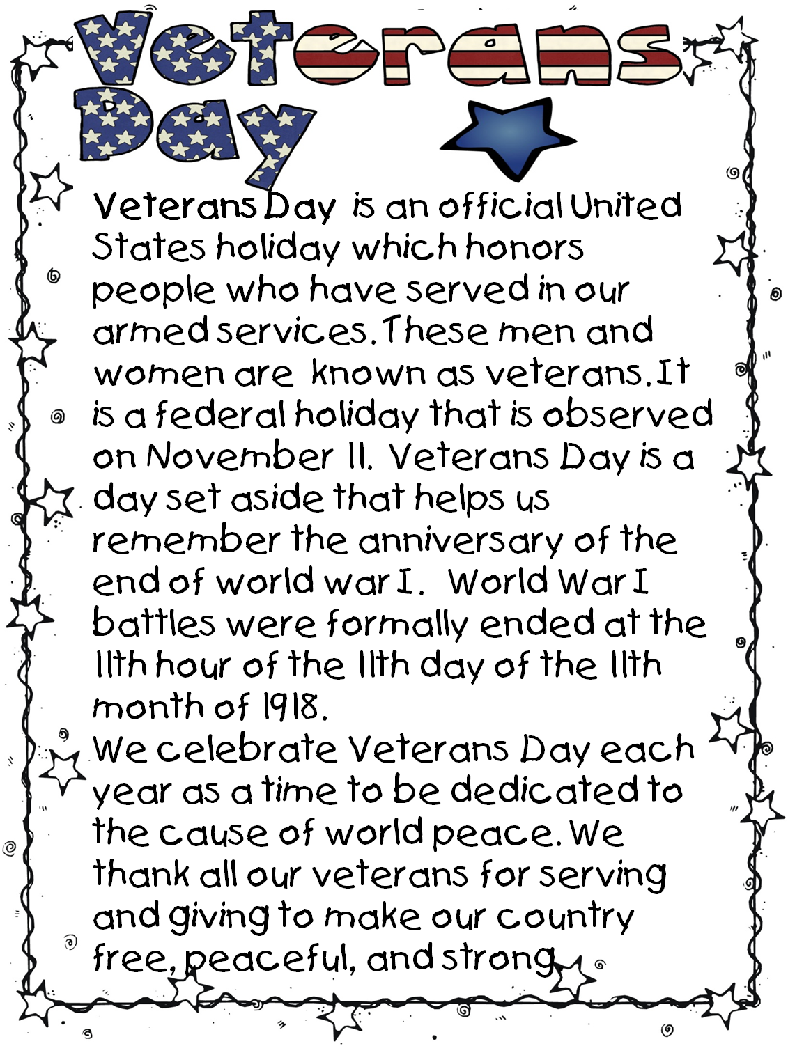 007 Veterans Day Essay Example Best Contest Ideas Titles Full