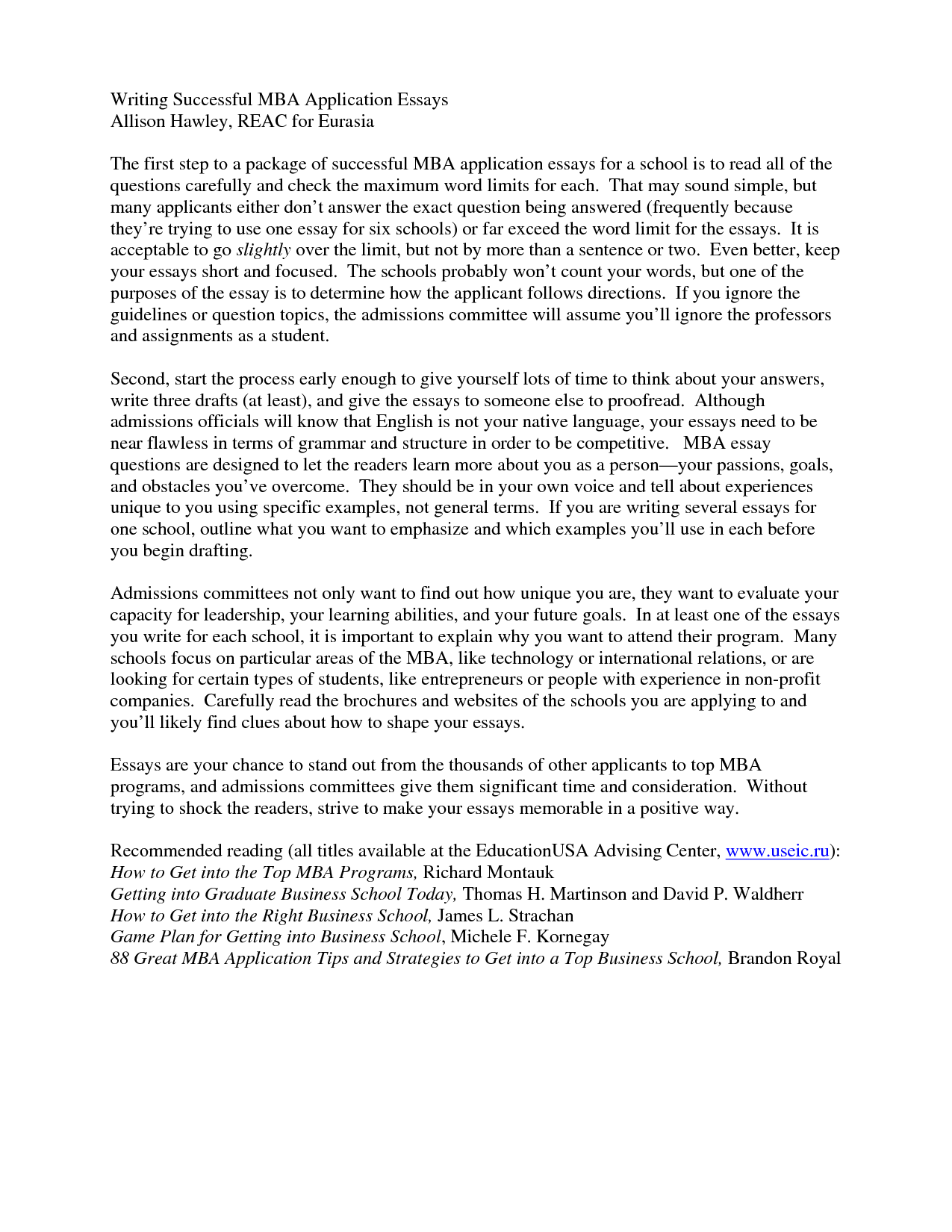 Mba admission essay buy executive