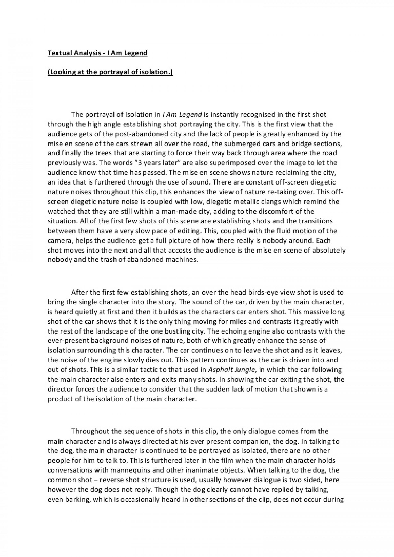 007 Who Am I Essay Example Atextualanalysisofiamlegend Phpapp02 Thumbnail Stirring Outline Pdf Free 1920