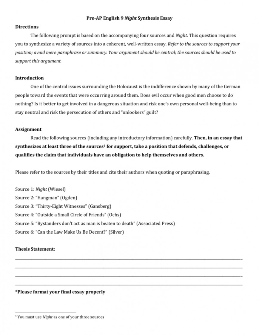 008 006963363 1 Synthesis Essay Format Formidable Outline Thesis