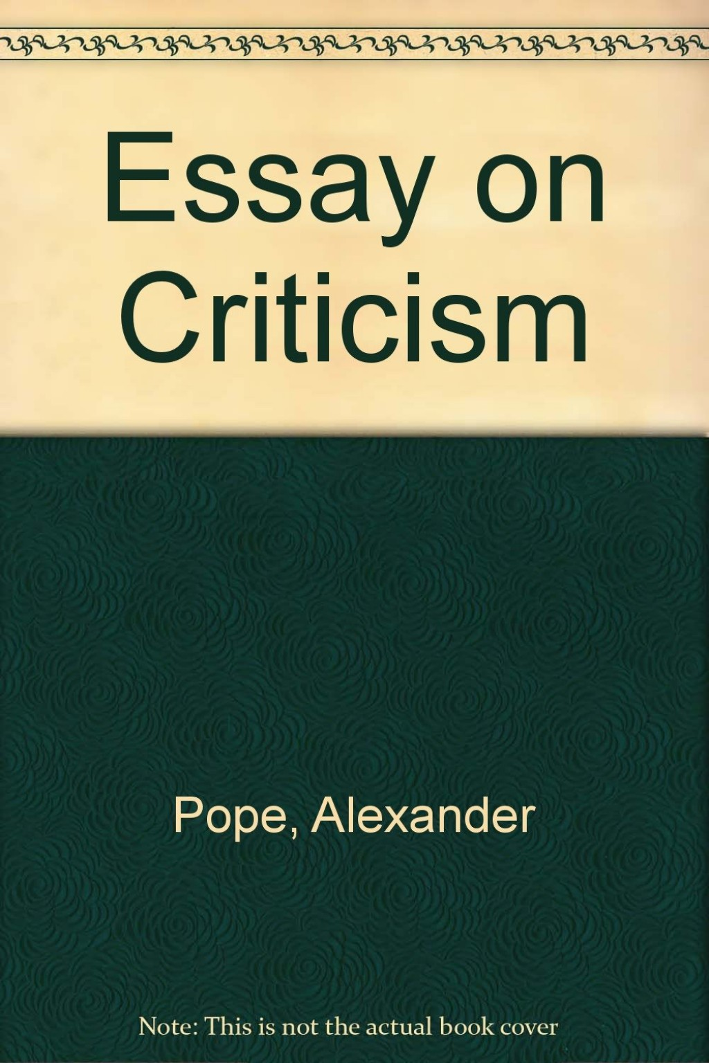 008 71dckmtazql Essay Example Pope On Unique Criticism Part 2 Pope's Was Written In Large