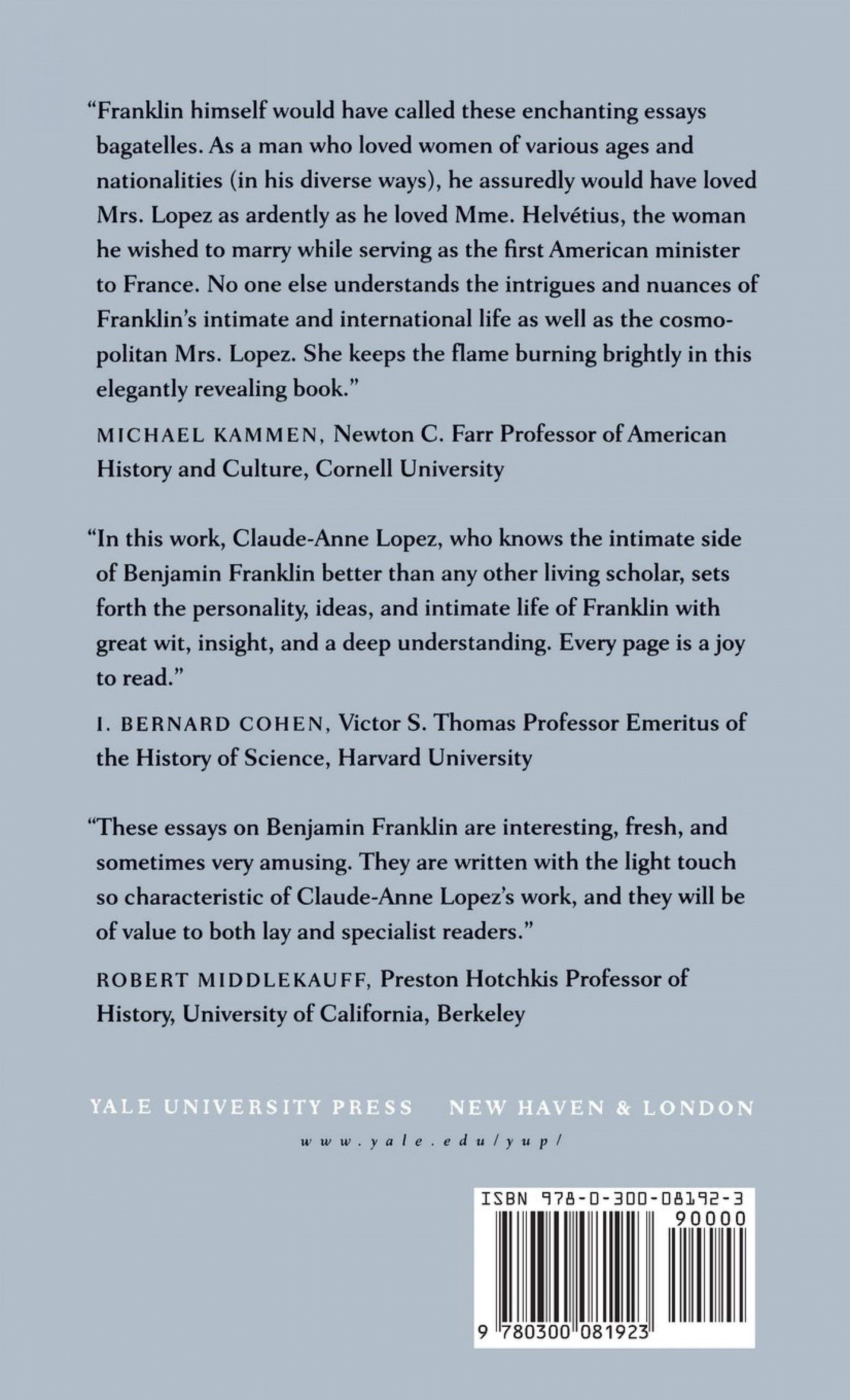 008 71domzzg7cl Benjamin Franklin Essay Unbelievable Thesis Statement Conclusion 1920