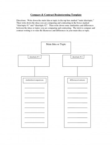 008 Brainstorming Essay Example Compare And Contrast Exceptional Template High School 5th Grade Vs College 360