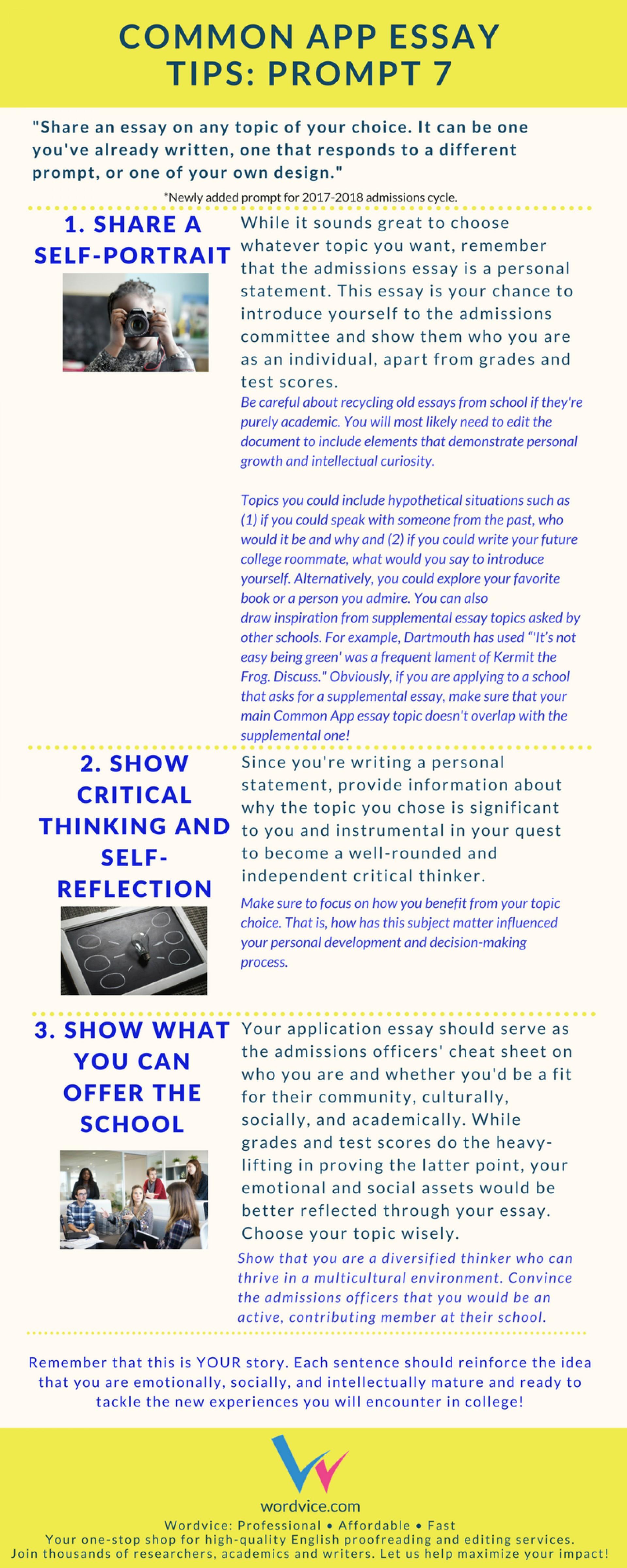008 Common App Brainstormprompt Essay Example Unusual Prompt 1 Examples 3 4 1920