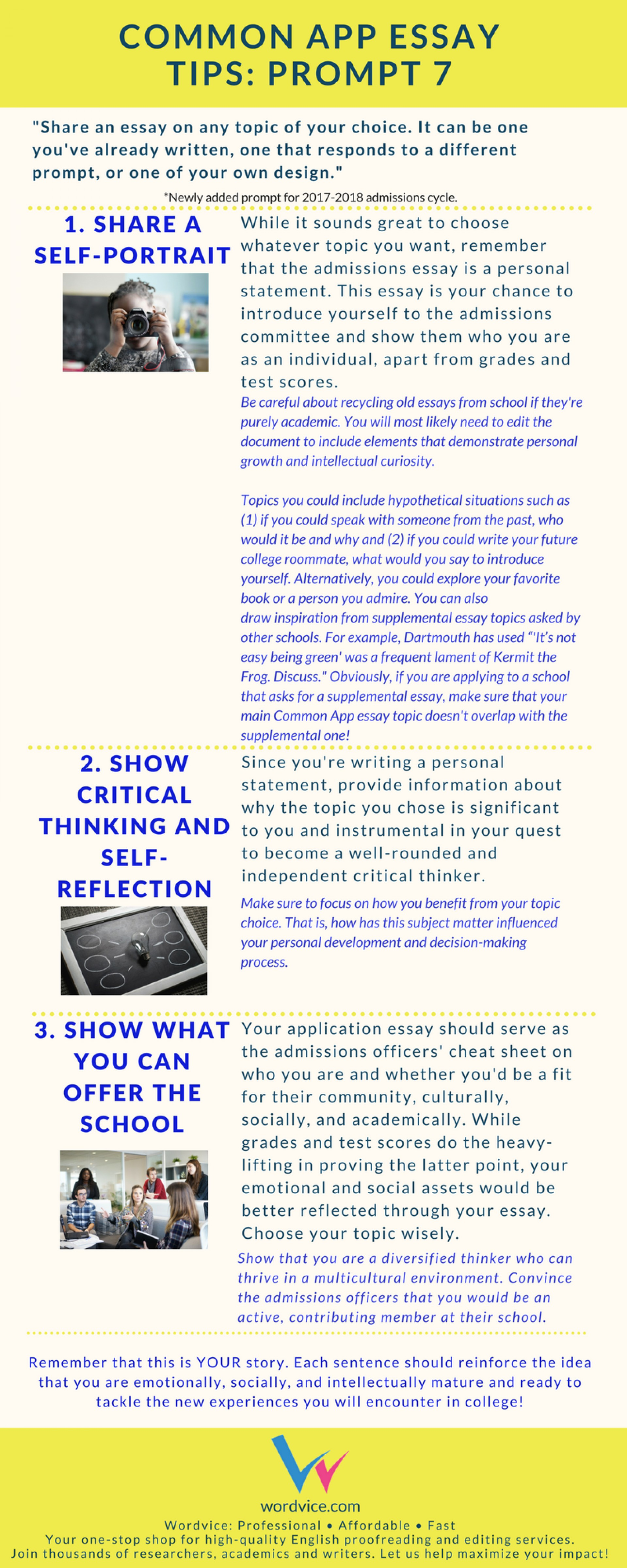 008 Common App Brainstormprompt Essay Example Unusual Prompt Examples 6 1 Sample 1920