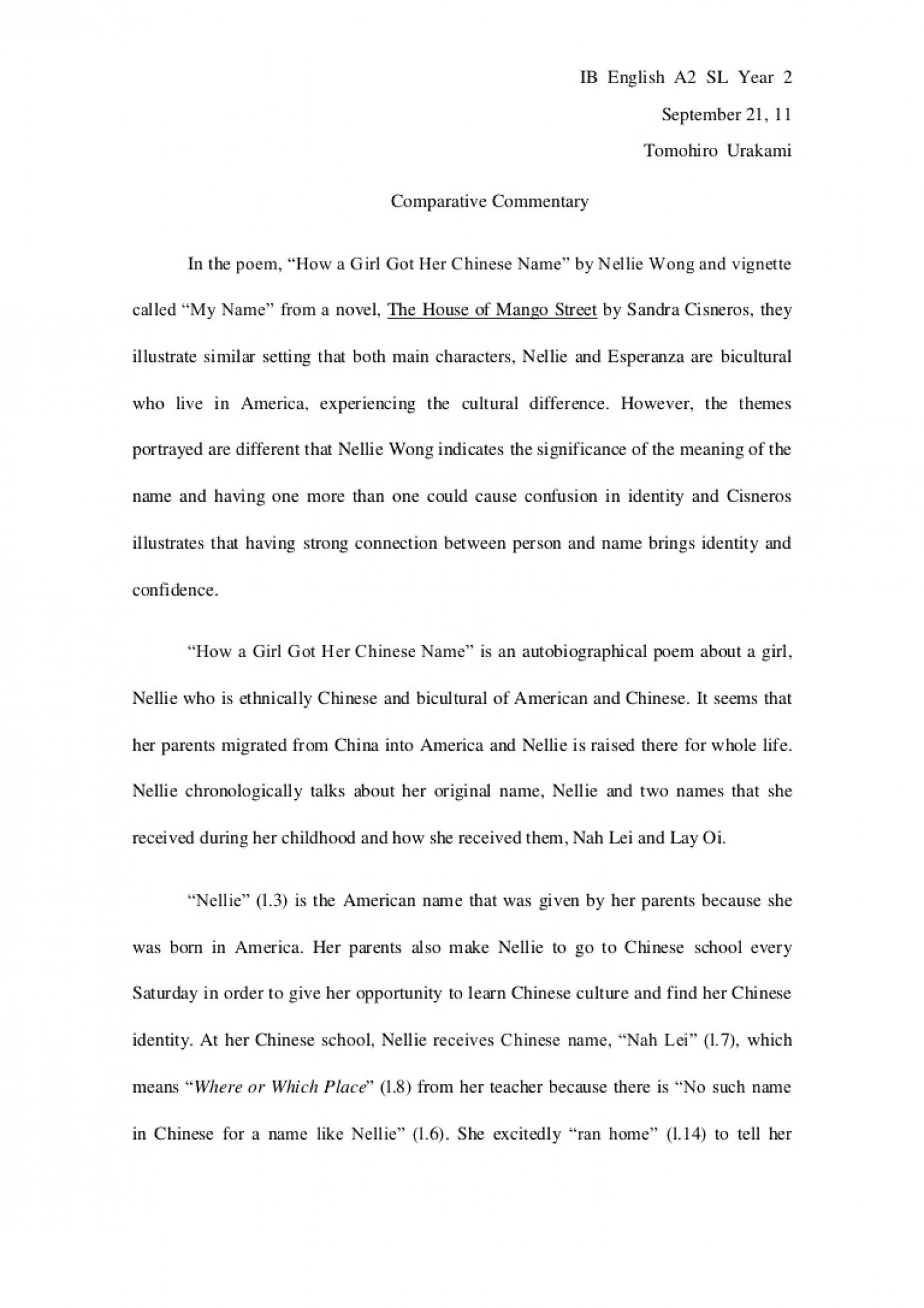 008 Compare And Contrast Essays Comparativeessaydraft Phpapp02 Thumbnail Magnificent Essay Examples Free For Elementary Students College Level 1400