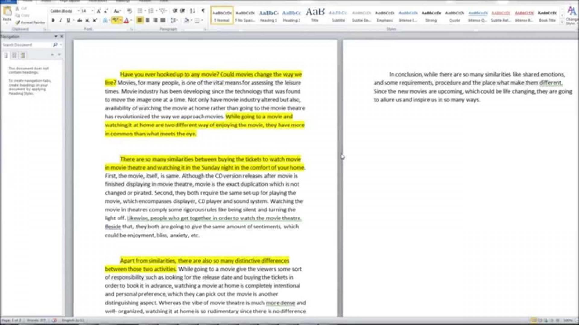 008 Compare Contrast Essay Examples Example Unusual High School Vs College Comparison Pdf And Topics 6th Grade 1920