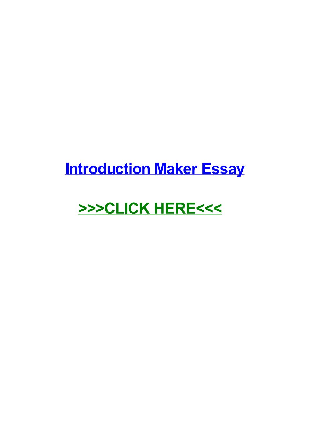 008 Conclusion Maker For Essays Page 1 Essay Staggering Full