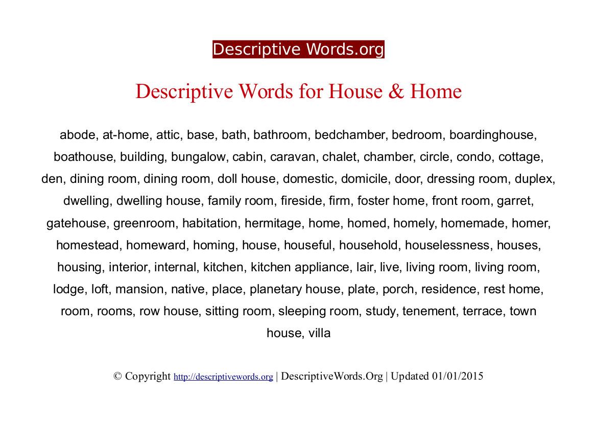 descriptive essay on home sweet home