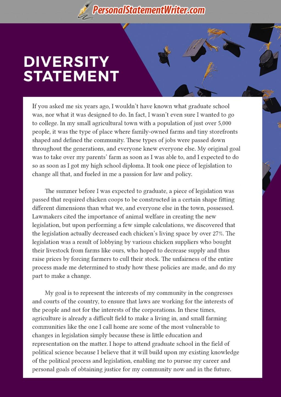 008 Diversity Essay Sample Graduate School Remarkable Law Uw Examples Medical Large