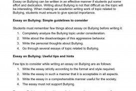 008 Essay About Bullying P1 Best Introduction In School Argumentative Brainly