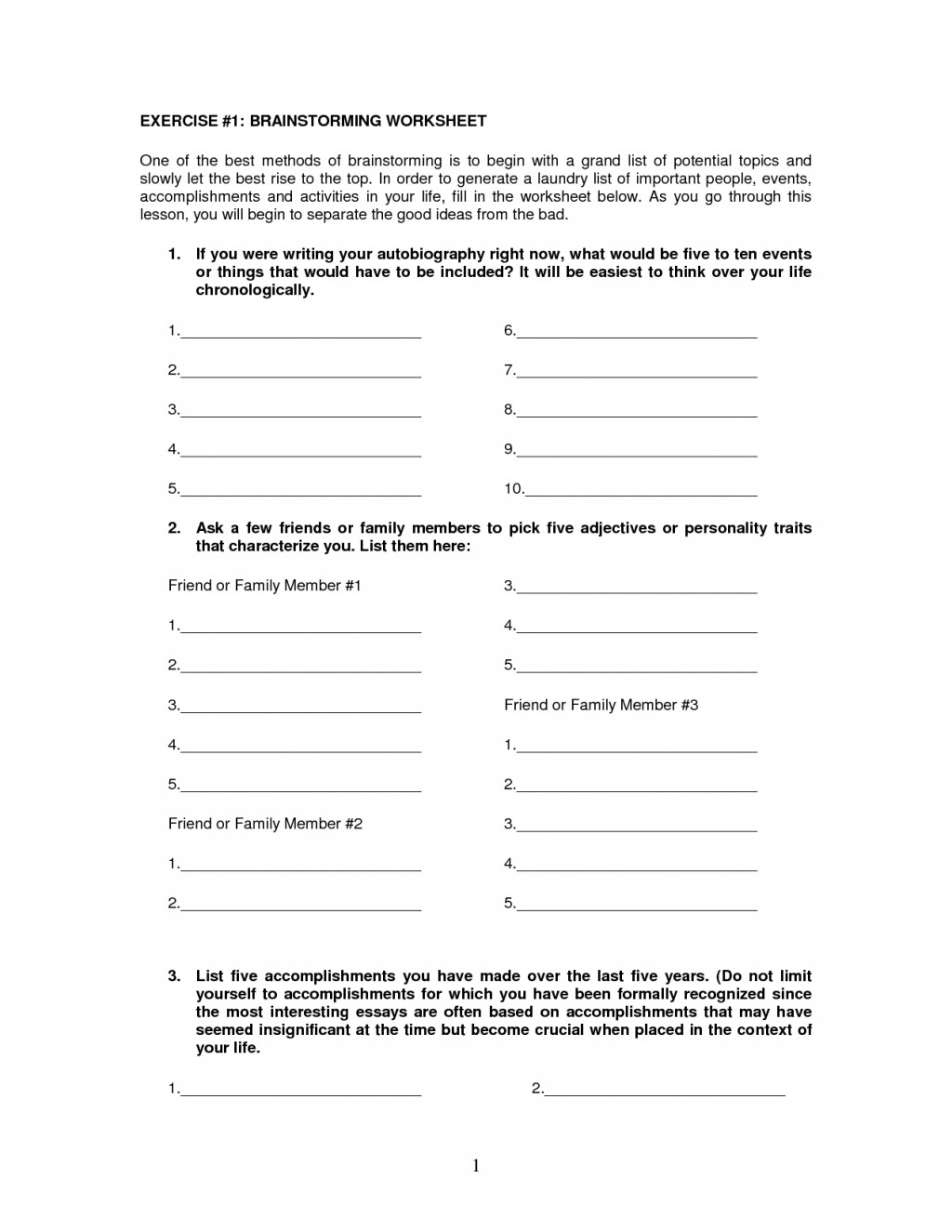 008 Essay Brainstorming Worksheet 583086 Outstanding Writing Techniques Topics College Large