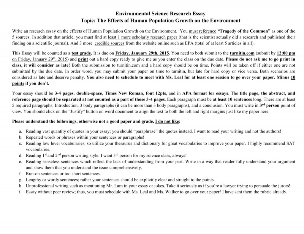 008 Essay Example 008035893 1 Human Impact On The Environment Impressive Topics Large