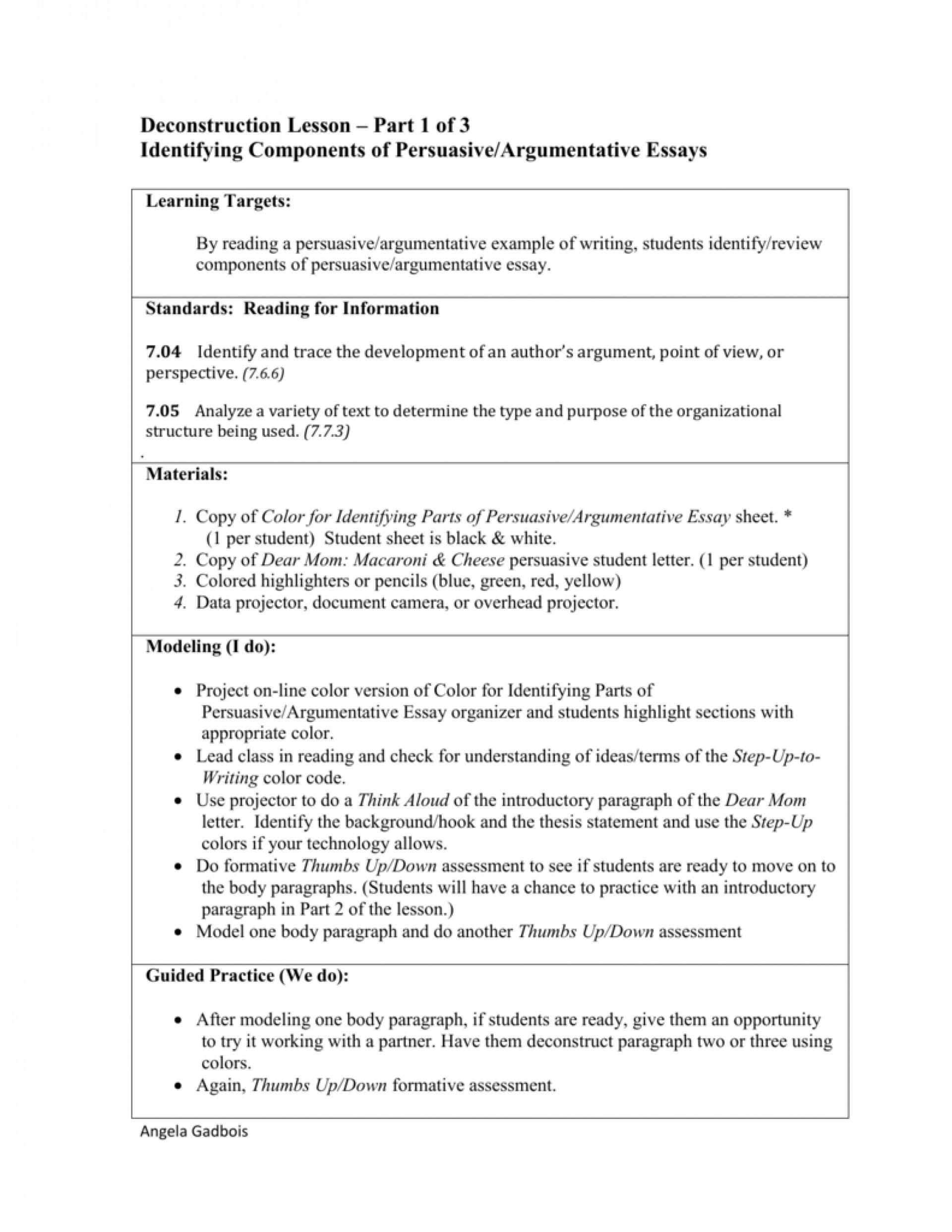 008 Essay Example 008053854 1 Parts Of Imposing 6 A Persuasive 1920