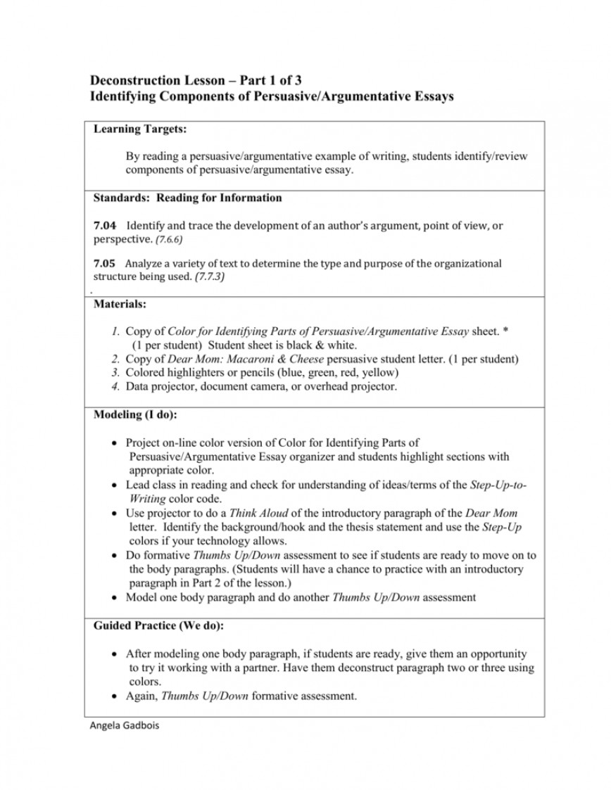 008 Essay Example 008053854 1 Parts Of Imposing 6 A Persuasive 868