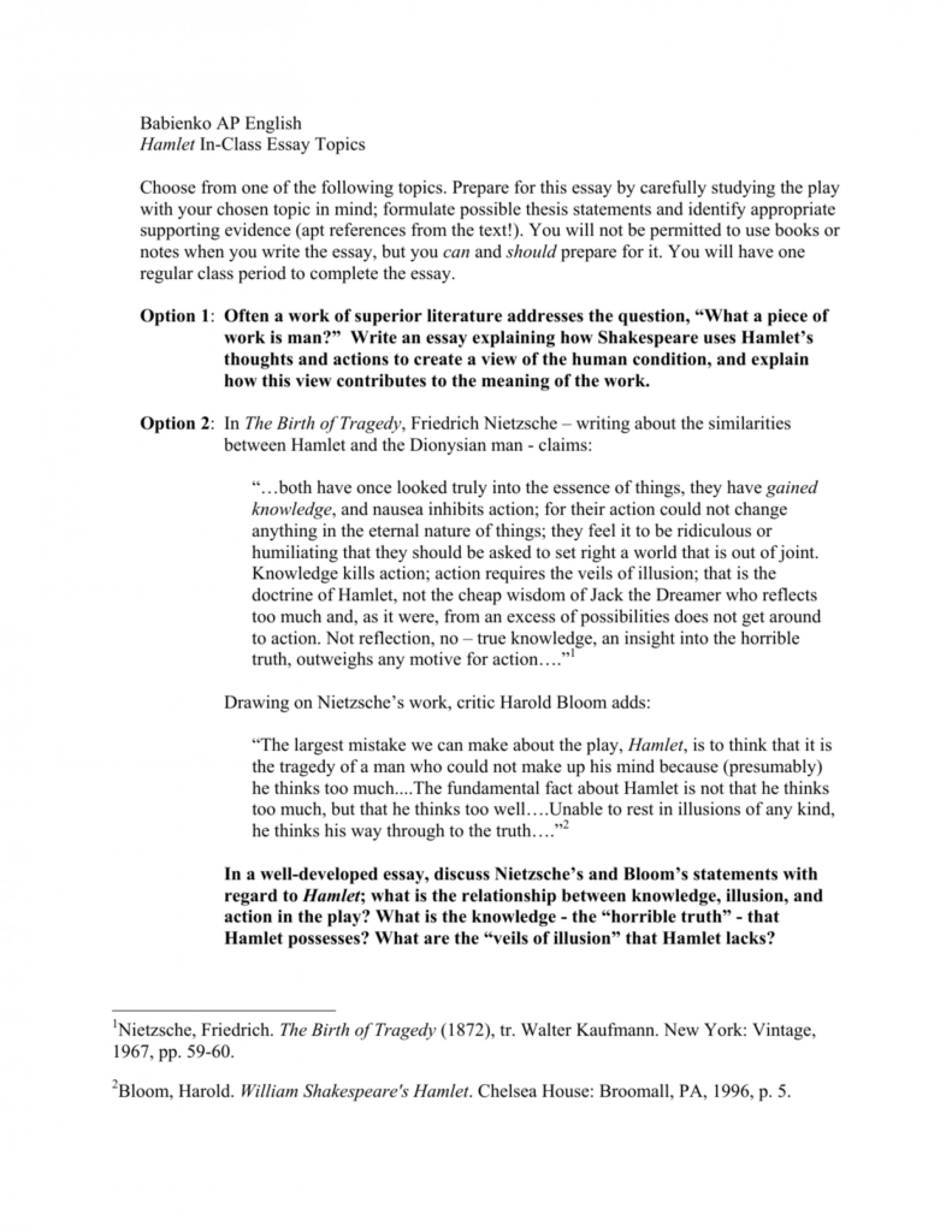 008 Essay Example 008676472 1 Topics Awful Hamlet High School Revenge Argumentative 1920