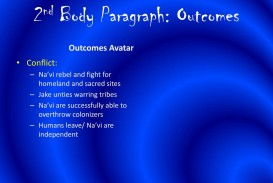 008 Essay Example 2ndbodyparagraph3aoutcomes Avatar Stirring Imperialism
