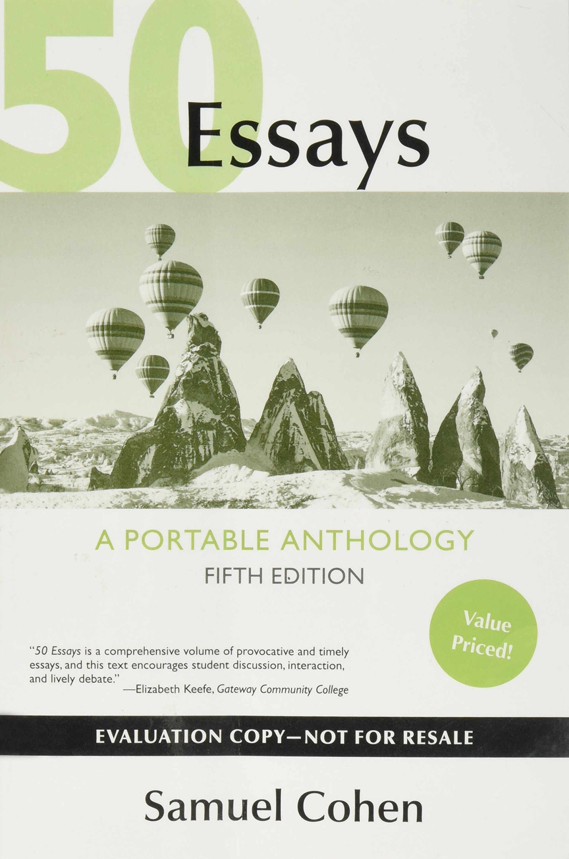 008 Essay Example 81lvlre8oll Essays 5th Imposing 50 Edition Fifty Great Pdf Free A Portable Anthology Ebook 1920