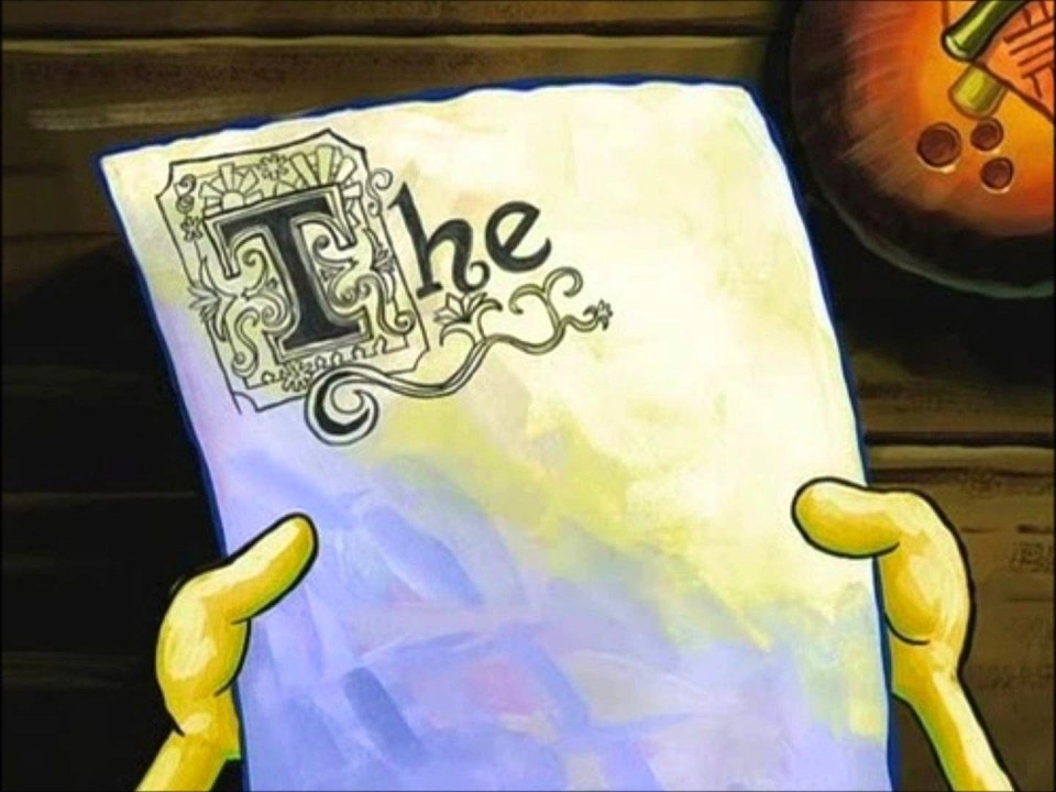 008 Essay Example Surprising Spongebob Writes An Full Episode Meme Generator Deleted Scene 960