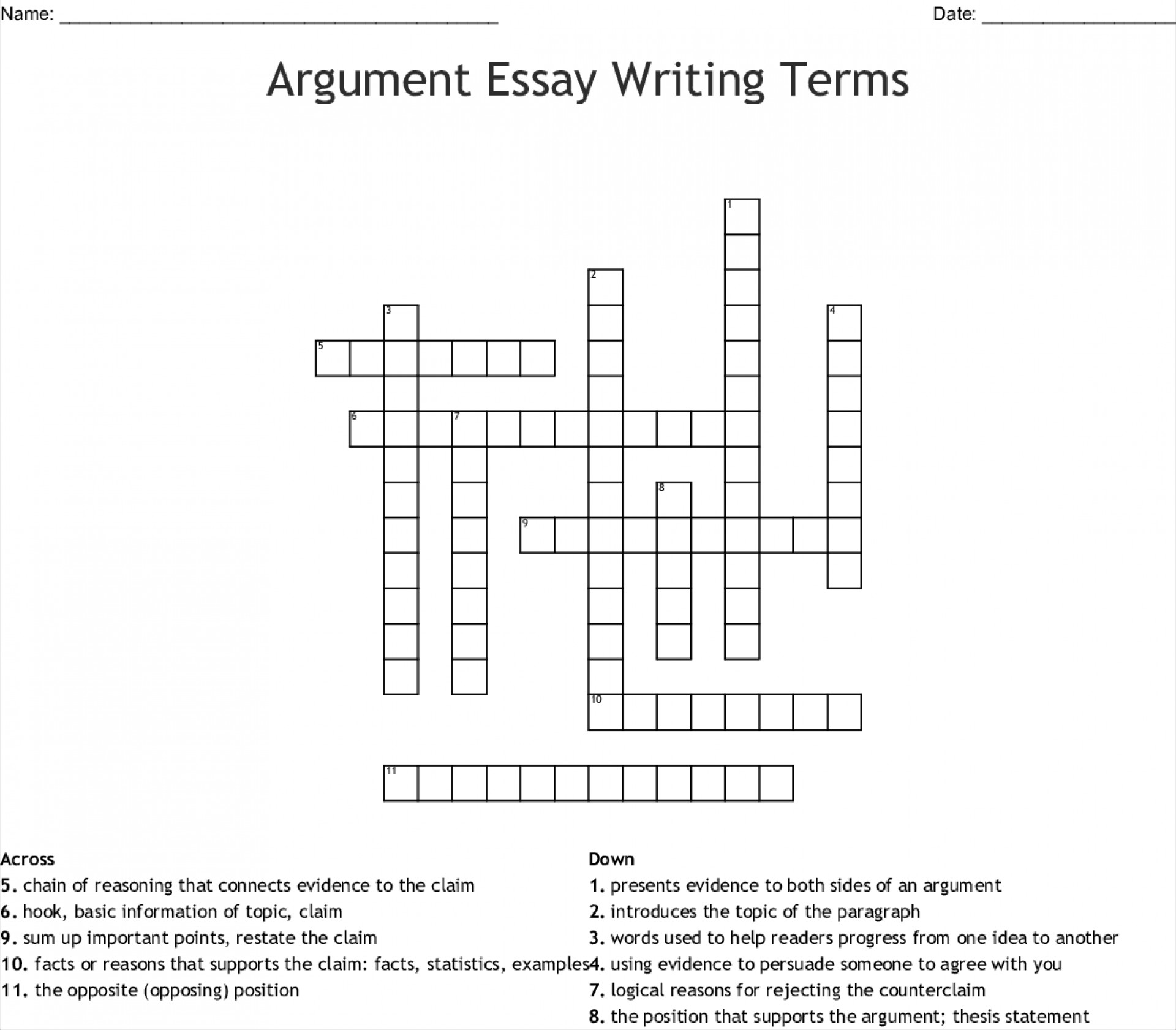 008 Essay Example Argument Writing Terms 255652 Fascinating Crossword Byline Clue Short Puzzle Persuasive 1920