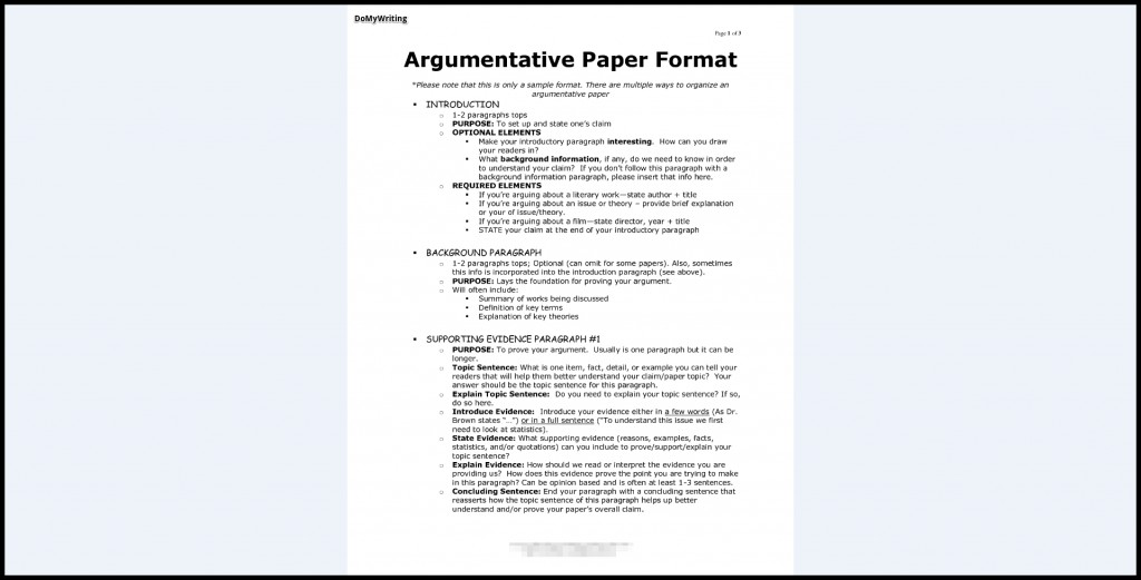 008 Essay Example Argumentative Best Format Outline Template Doc Mla Large