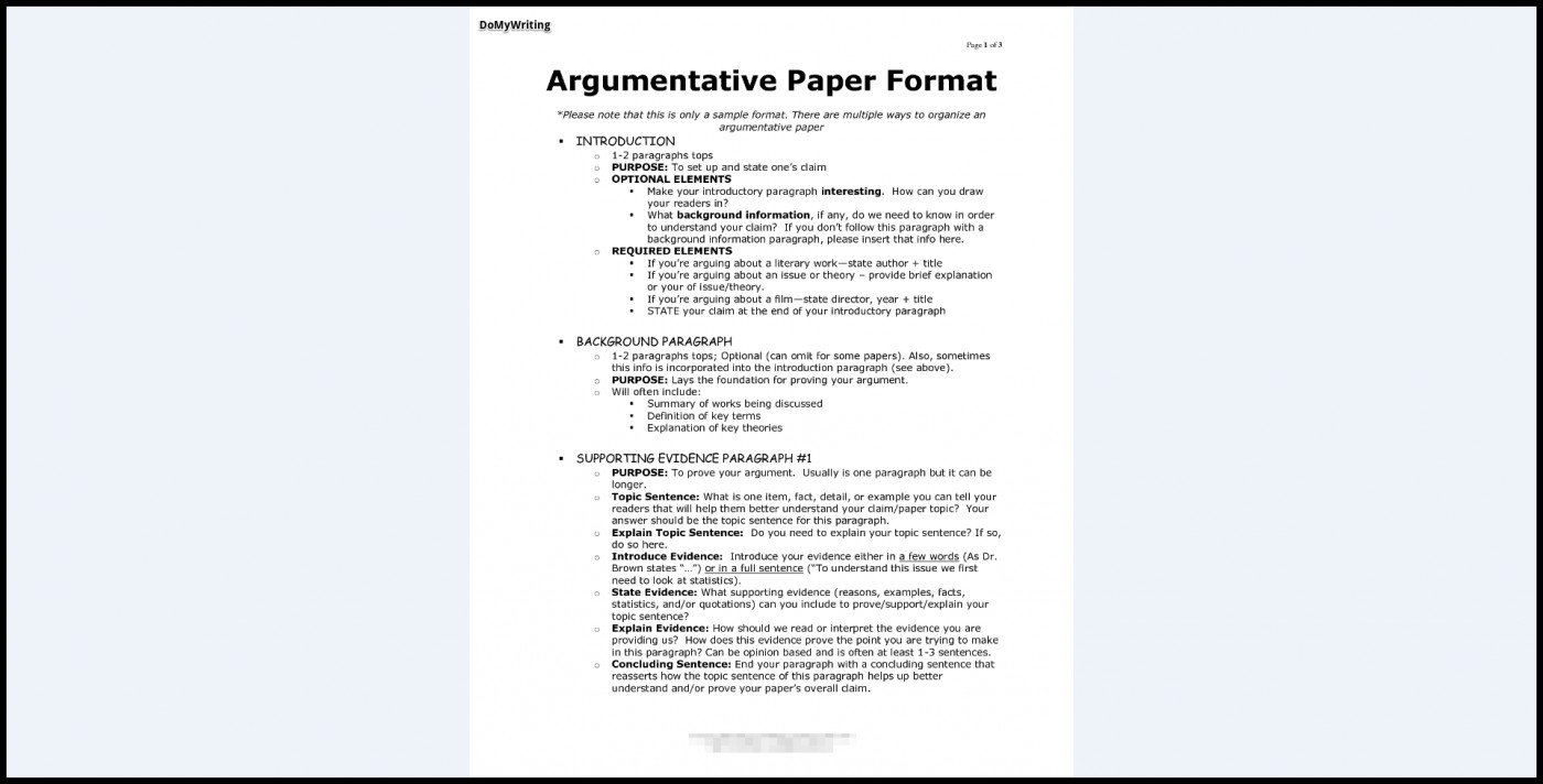 008 Essay Example Argumentative Best Format Ap Lang Outline Template College 1400
