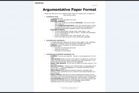 008 Essay Example Argumentative Best Format Outline Template College Examples Pdf