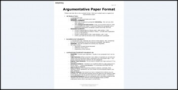 008 Essay Example Argumentative Best Format Template Outline Sample Pdf 360