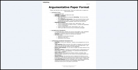 008 Essay Example Argumentative Best Format Template Outline Sample Pdf 480