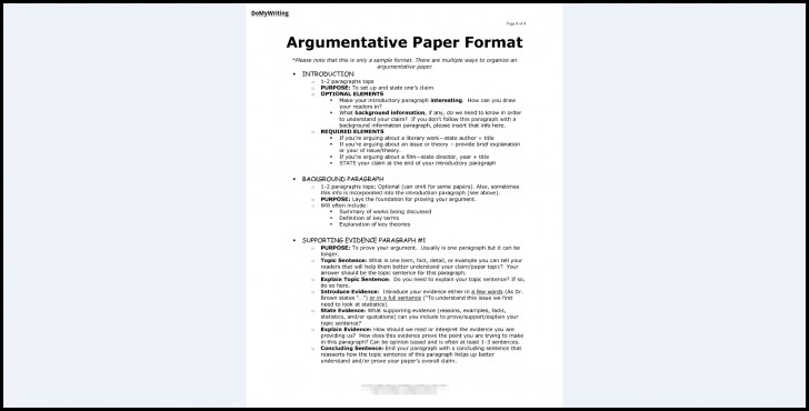 008 Essay Example Argumentative Best Format Template Outline Sample Pdf 728