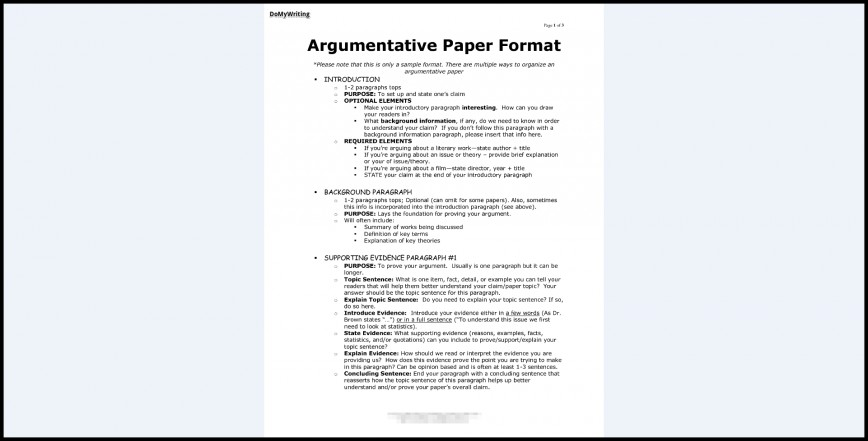 008 Essay Example Argumentative Best Format Template Outline Sample Pdf 868